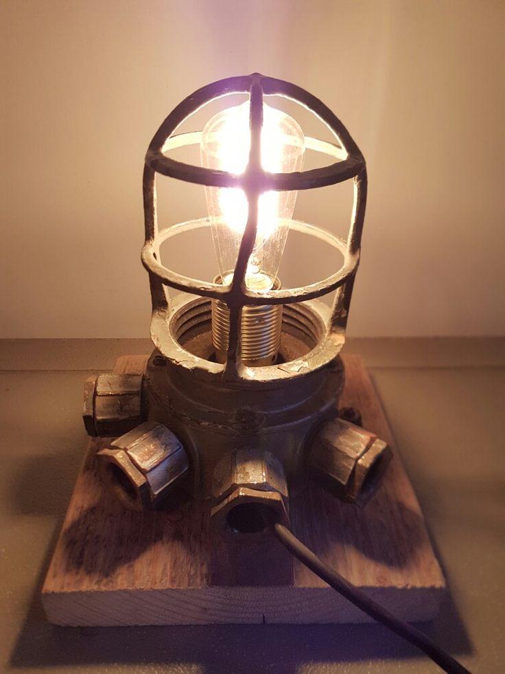Industrial bullseyelamp. For sale.
