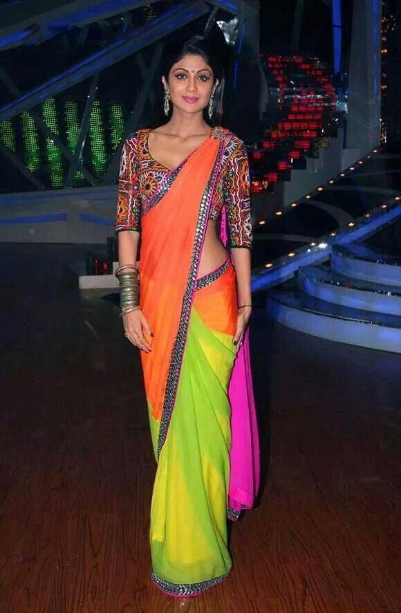 Shilpa Shetty multi coloured