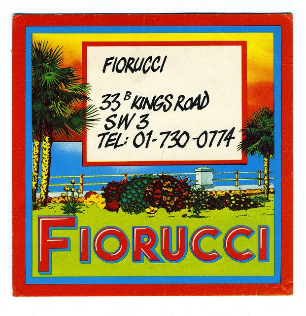 this is the Fiorucci that made me fall in love with their quirky humourous sense of design in the seventies...business card by TinTrunk, via Flickr