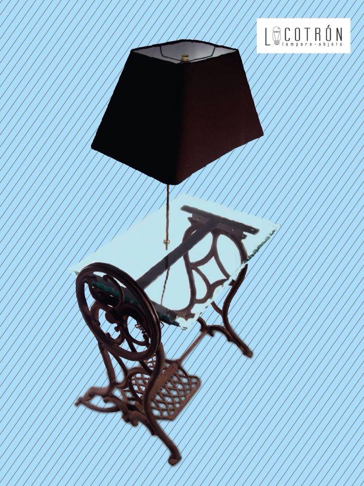 Colección: Máquina de Coser Modelo: Mariposa Dimensiones: Altura 115 cm Ancho 65 cm Fondo 40 cm Encendido: Interruptor en socket  Precio: $3200