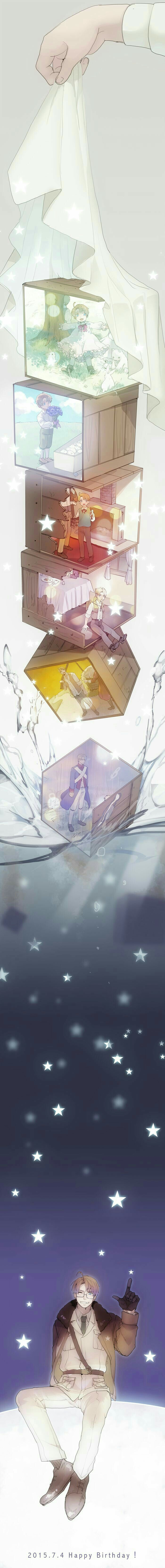 Happy Birthday America, snowing, winter, timeline, young, childhood, different ages, time lapse; Hetalia