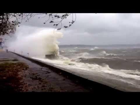 Шторм на Кременчугском водохранилище (24.09.2014) - YouTube