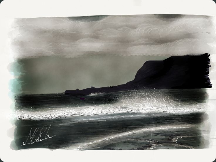 Cayton bay Scarborough Created using the app 'Paper'