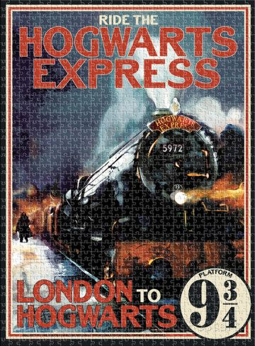 Harry Potter Hogwarts Express 1,000 Piece Puzzle Jigsaw Puzzle at AllPosters.com