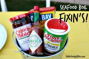 All the fixin's you'll need for your seafood boil! Tabler Party of Two