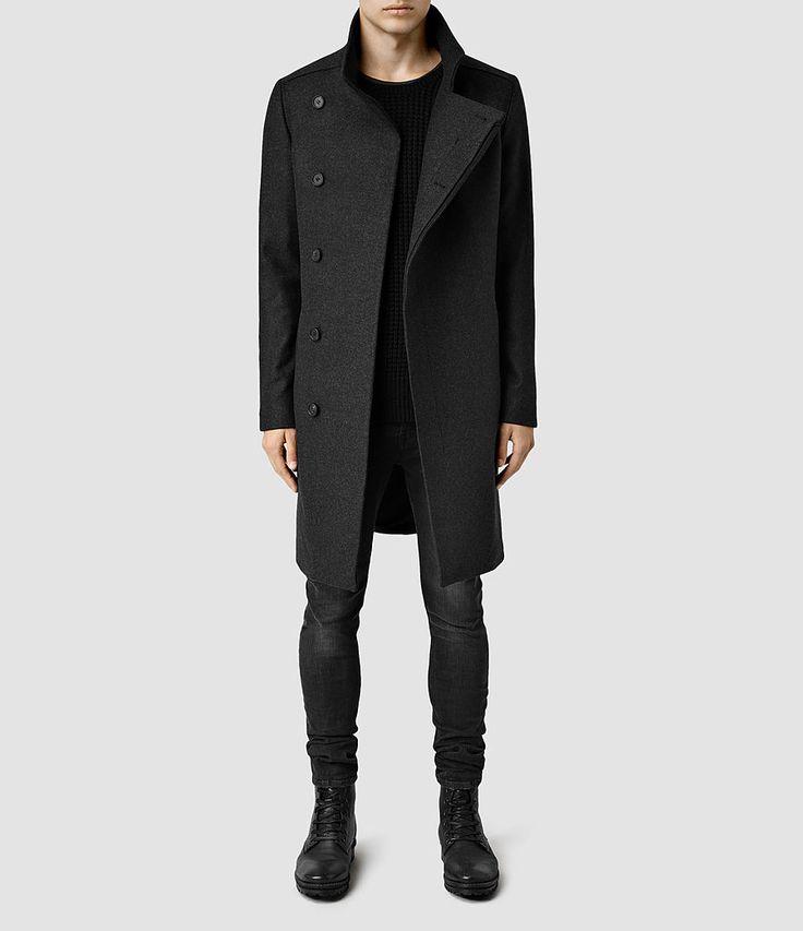 Mens Banner Coat (Charcoal)