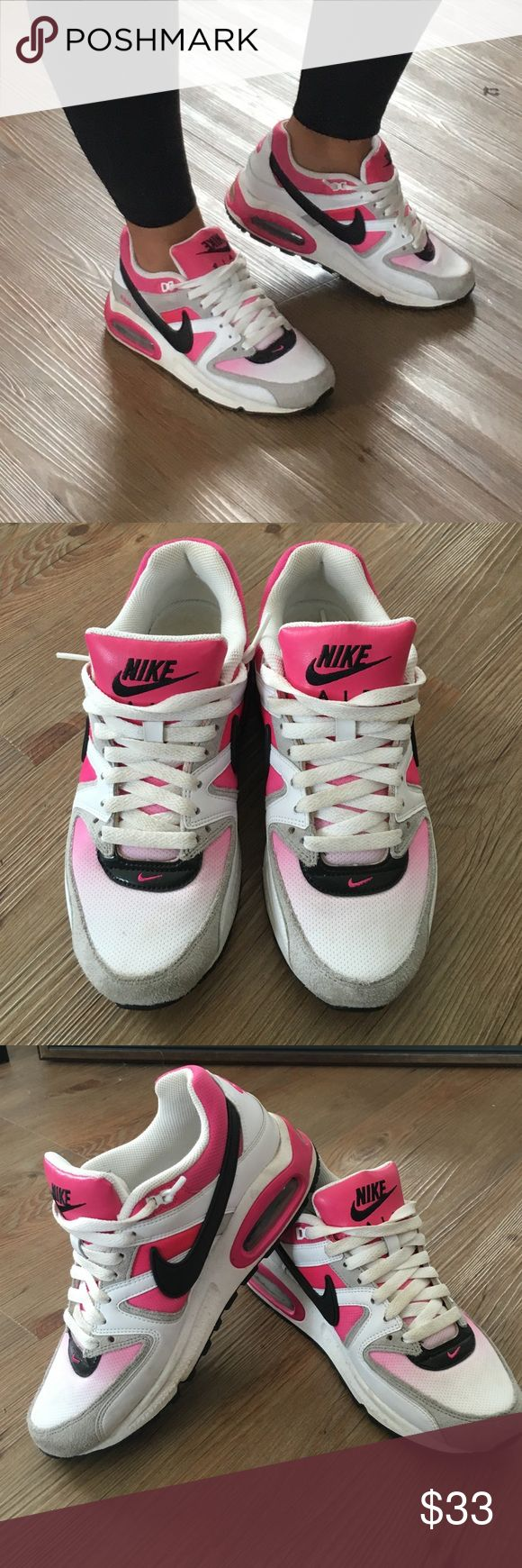 Nike Air Max Hot Pink, light pink, grey, white and black ladies Nike Air Max shoes SZ 7.  Worn only a few times and in great condition Nike Shoes Sneakers