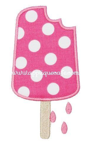 Popsicle Applique Design...inspires me. Scrap paper and Popsicle sticks?  Summer time bboard