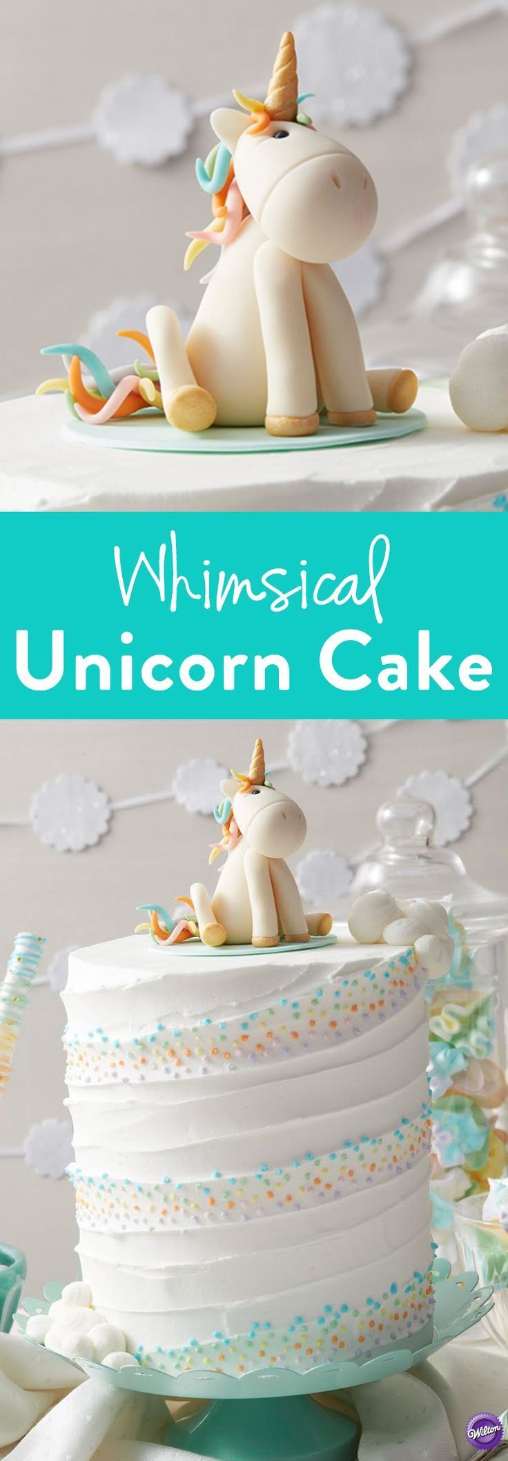 How to Make a Whimsical Unicorn Cake – Learn how to make this adorable Whimsical Unicorn Cake that's great for birthdays and baby showers or any unicorn-themed party!