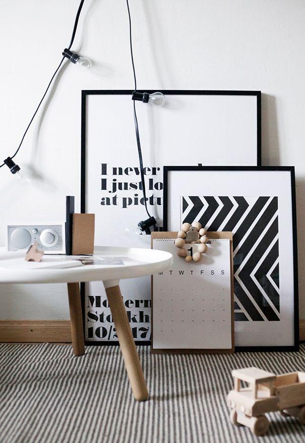 Via Door Sixteen | Black and White | Granit Lights | Warhol Poster |  Normann Copenhagen Tablo