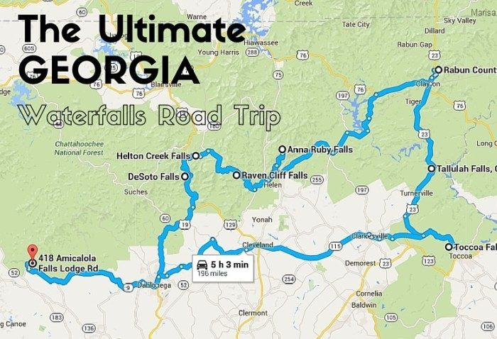 All of the best Georgia road trips in one spot.