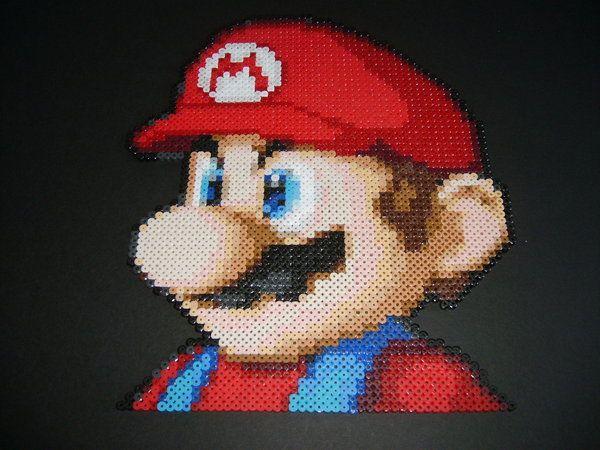 Mario Kart Wii Profile hama perler beads by ShampooTeacher on deviantart