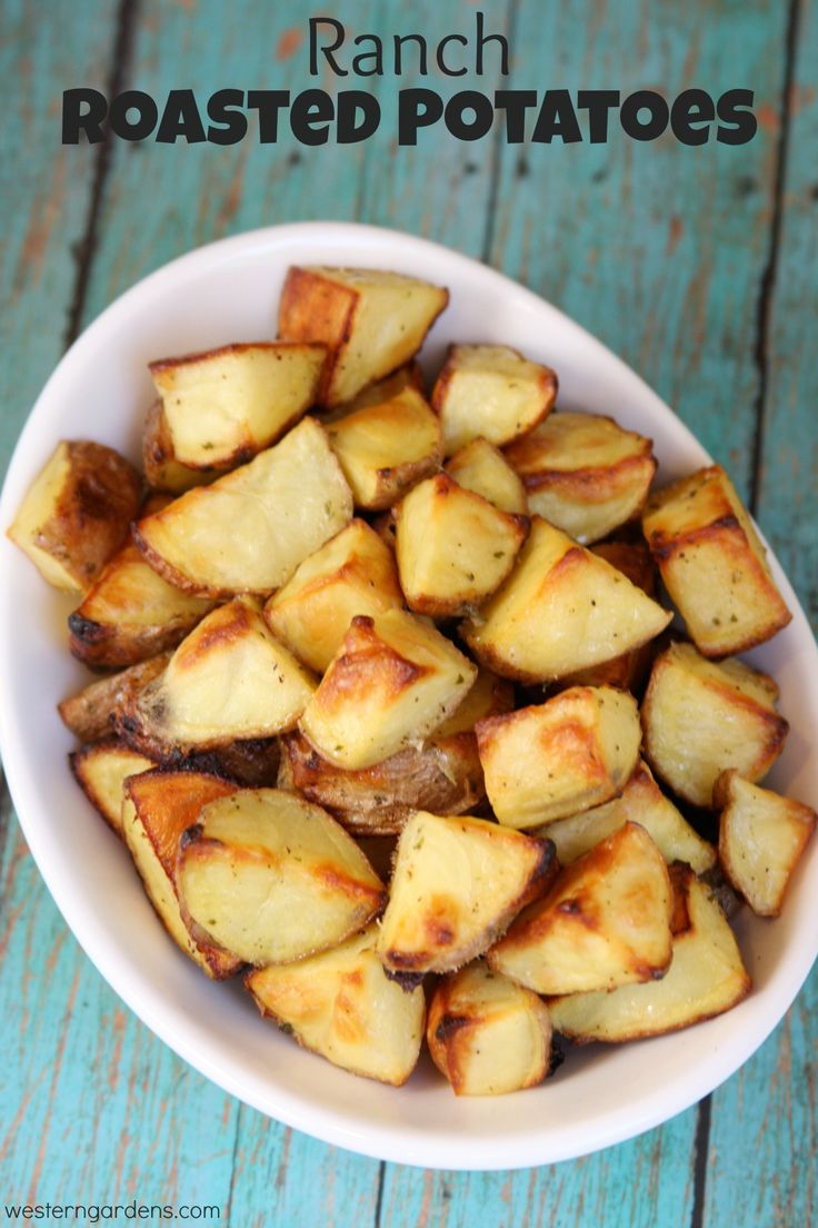 Ranch Roasted Potatoes...perfect summer BBQ side dish! Easy (and fast!) to make and then throw in the oven while you prep everything else for your BBQ!