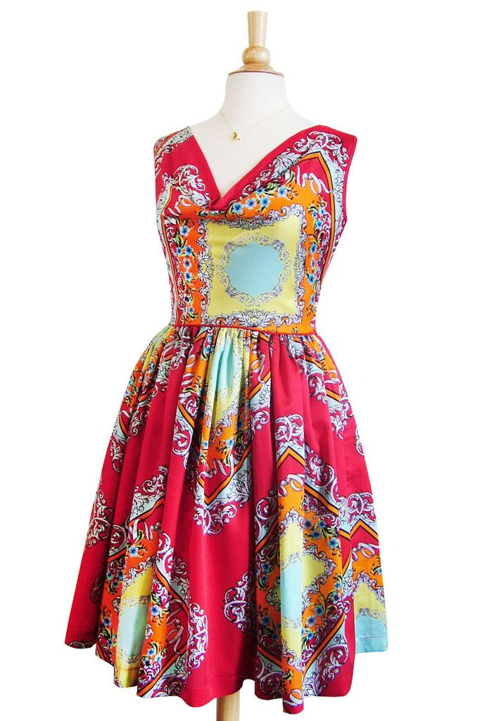 Dolce Vita dress- ornate print Swonderful Boutique
