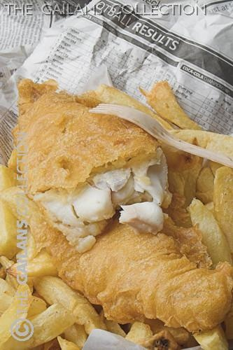 Fish and chips in newspaper.. the way it should be.