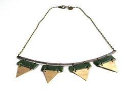 Enamel necklace - Minimalist - Statement by Boroka Halasz