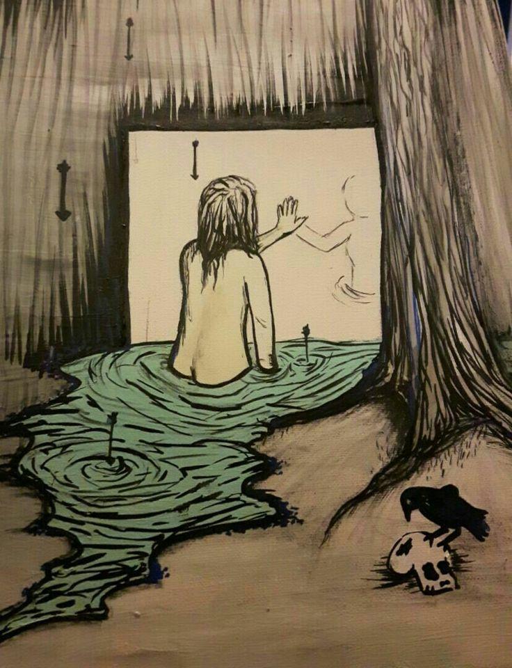 Virginie Guilbault, peintures sur toile, l'identité face à soi même 2/2, 2017