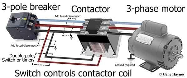 cableado del motor trifásico  home electrical wiring