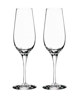 50% OFF Orrefors Pair of Astra Flutes