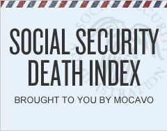 Social Security Death Index *NOTE: It is recommended that patrons access this link through familysearch.org