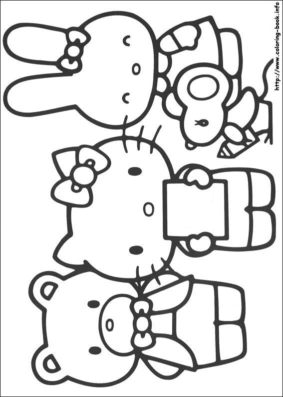 best hello kitty coloring pages - photo#38