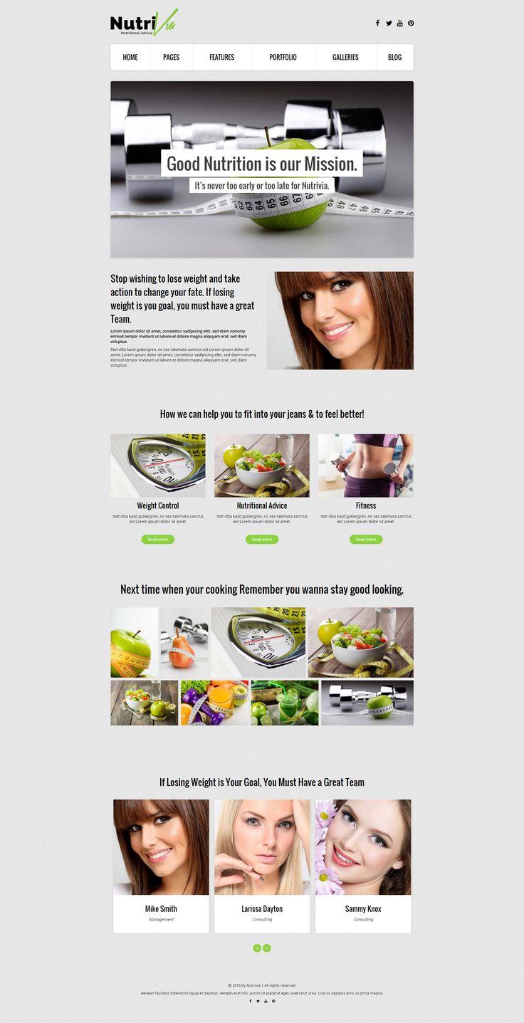 Nutrivia - a Nutrition WordPress Theme