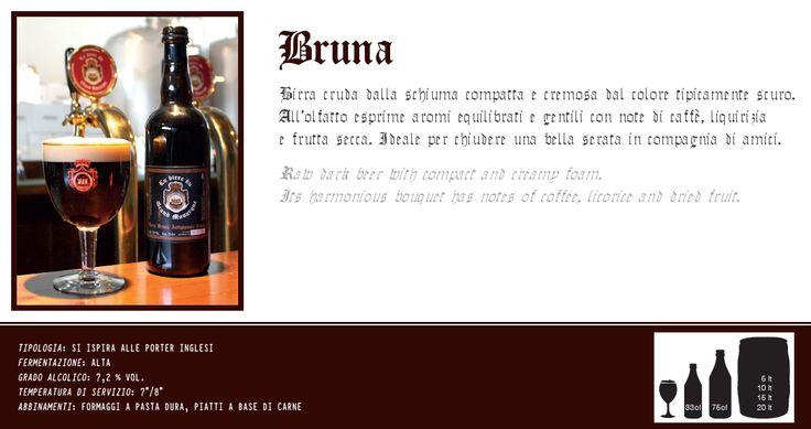 Birra bruna artigianale cruda. Scopri e prova tutte le altre birre su: www.demarca.it
