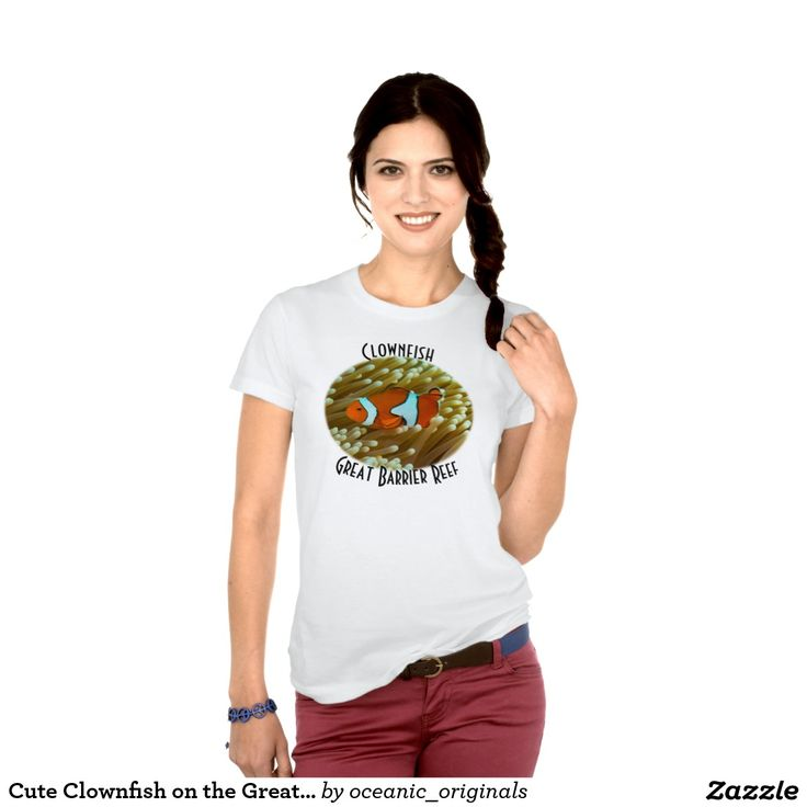 This T Shirt features a cute clownfish nestled in a sea anemone at Lighthouse Bommie on Australia's Great Barrier Reef. There are at least 30 recognized species of clownfish but the one most are familiar with from the movies is the Ocellaris clownfish.