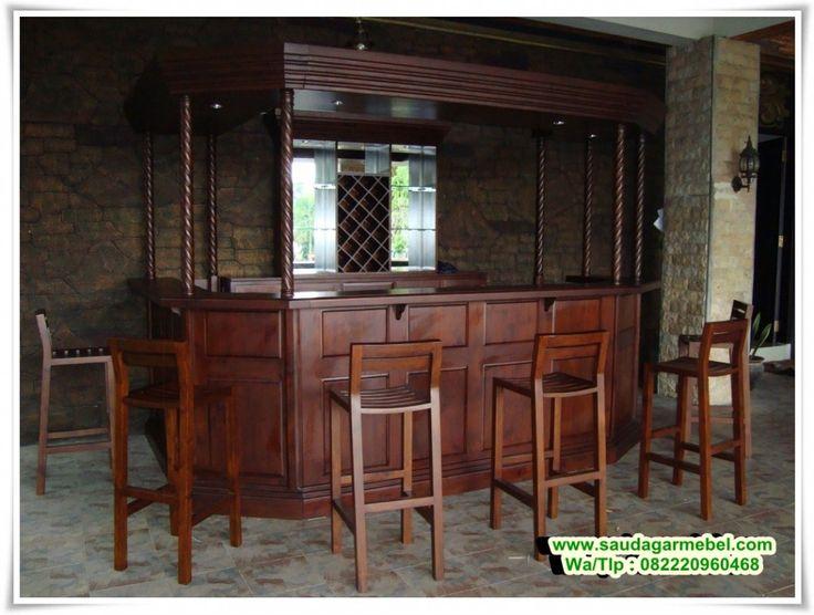Jual Meja Bar Jati – Bagi seseorang yang memiliki Ruang rumah beruuran besar, yangs ebelumnya dikonsep sebagai Ruangan santai atau ruangan Minum. Tentunya memiliki Ruangan Meja Bar merupakan sebuah kebutuhan, yang biasanya di setting dengan Ruangan Makan. Seperti terlihat konsep yang ada di gambar.
