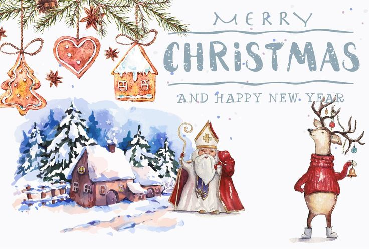 Congratulate your friends a Merry Christmas on Cardolini.ru