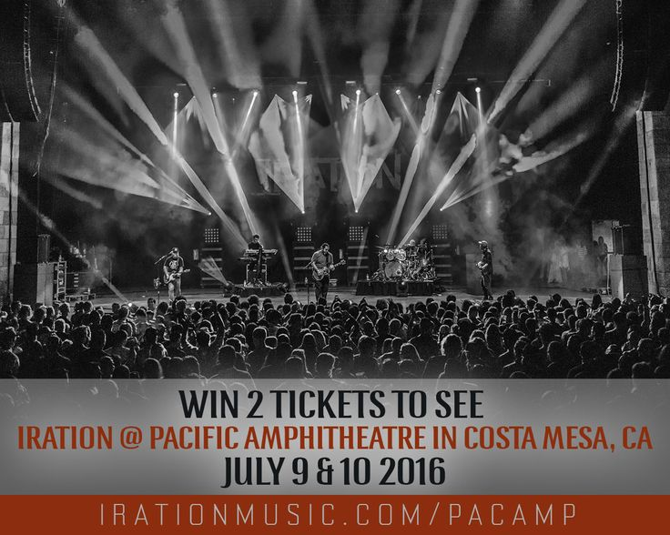 Who's coming with!? Iration 2 Nights at Pacific Amphitheatre with Rebel Souljahz, Katastro and The Steppas Saturday July 9th. With Collie Buddz, Seedless and The Expanders on Sunday July 10th in Costa Mesa, CA. Tickets and info at IrationMusic.com