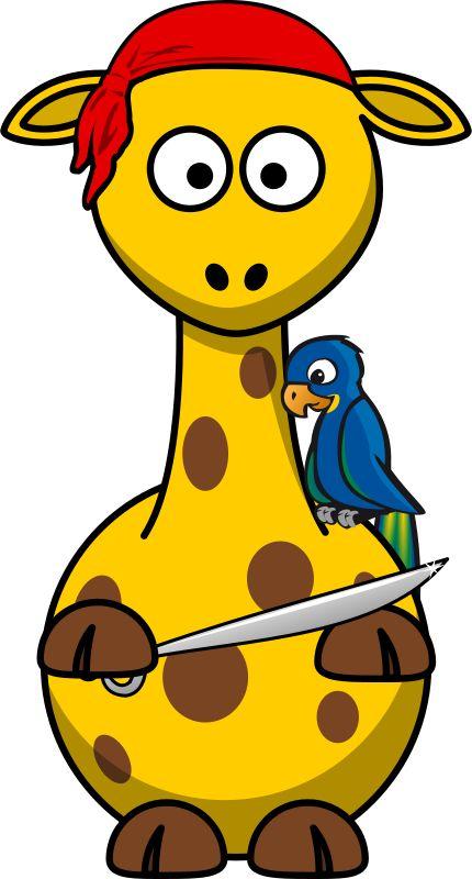 Free Giraffe Pirate