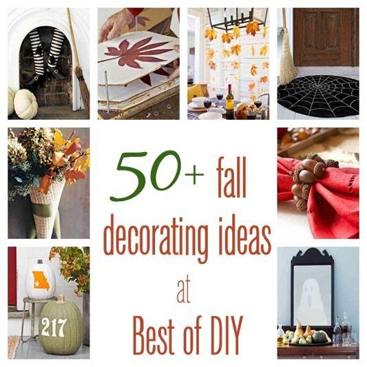 50 Fall Decorating Ideas Diy Home Famly Pinterest