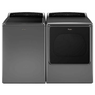 Whirlpool Cabrio 5.3 cu. ft. High-Efficiency Top Load Washer with Steam in Chrome Shadow, ENERGY STAR-WTW8500DC - The Home Depot