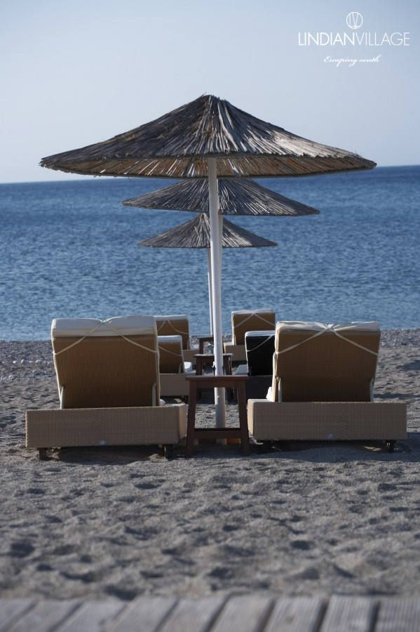 Picture yourself laid back on this sun lounger, overlooking the water and the bright sky of the Mediterranean… More at lindianvillage.gr