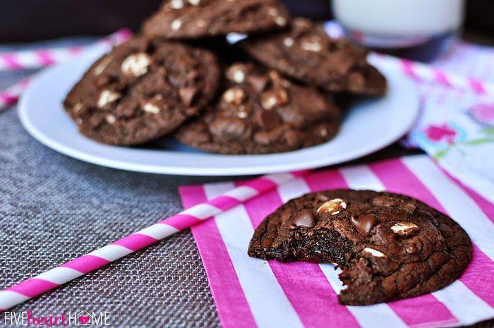 Μαλακά σοκολατένια cookies με κομμάτια λιωμένης σοκολάτας , σκέτη απόλαυση! Και το πιο σημαντικό: ΝΗΣΤΙΣΙΜΑ ¾ κούπας λάδι (κατά προτίμηση σπορέλαιο) 2 κούπες ζάχαρη 3 κουτ. σούπας ξύδι απλό 1 κοφτό κουτ. γλυκού αλάτι 3 βανίλιες 2 γεμάτα κουτ. γλυκού σόδα μαγειρική 8 γεμάτες κουτ. σούπας κακάο άγλυκο 1 κούπα χυμο …