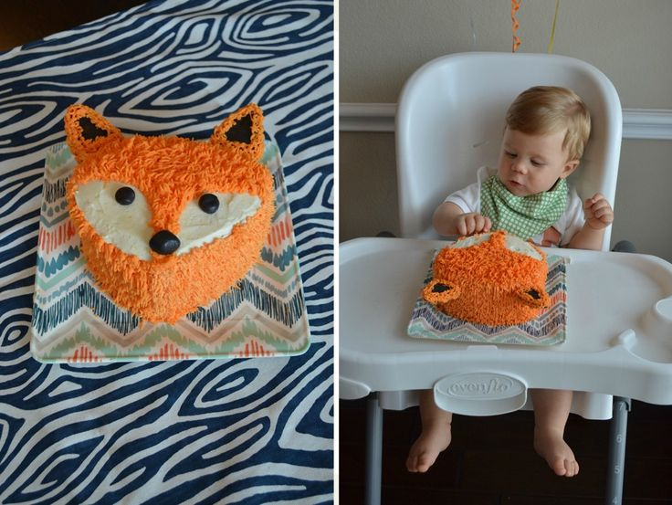 Project Nursery - Fox Birthday Cake - Project Nursery