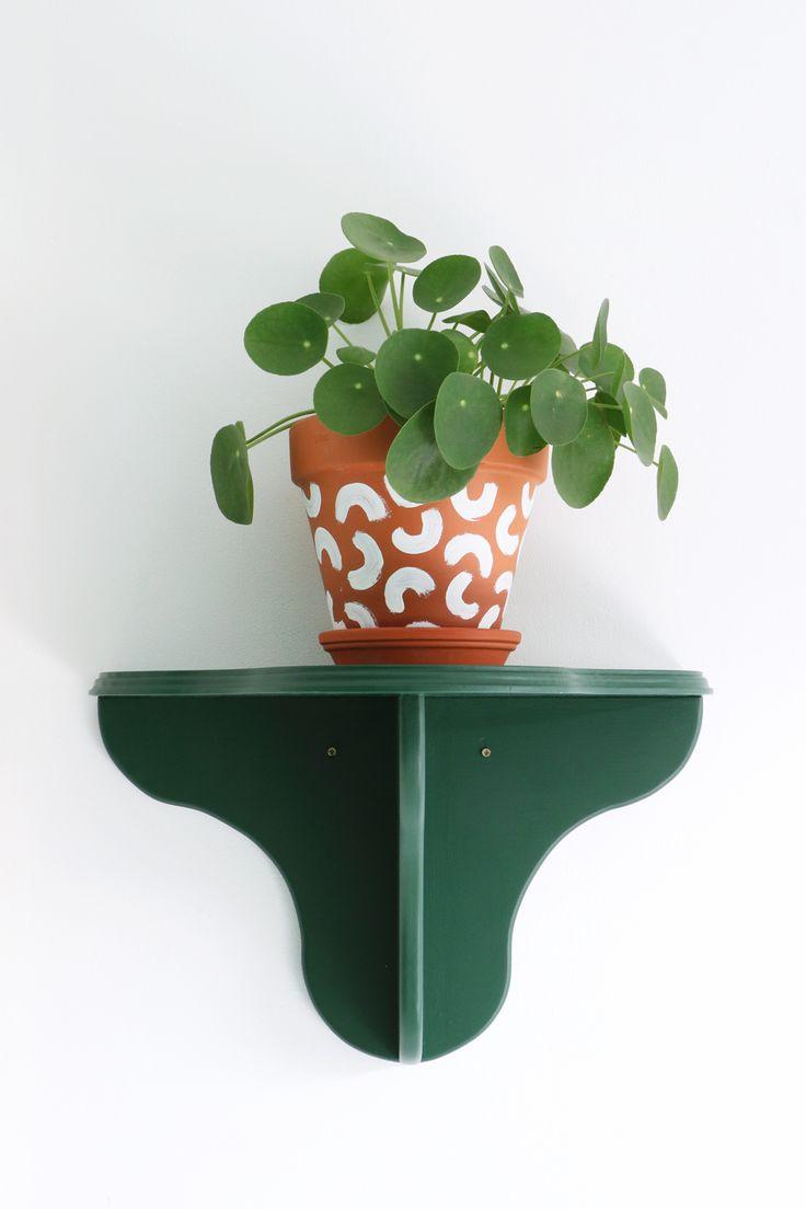 MY ATTIC SHOP / green wall shelf / wandplank / greens / plants    www.entermyattic.com