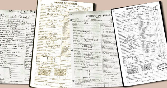 Funeral home records are a valuable family research resource providing information about church affiliations, education, military, memberships