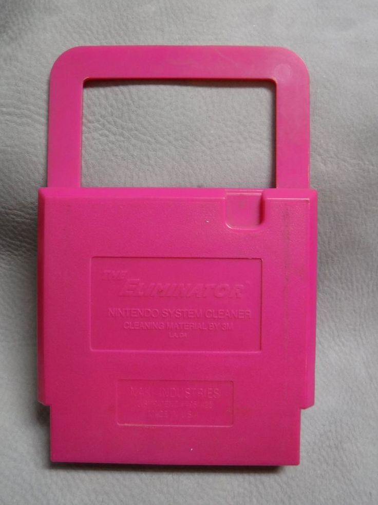 THE ELIMINATOR NINTENDO SYSTEM CLEANER PINK CARTRIDGE. REUSABLE