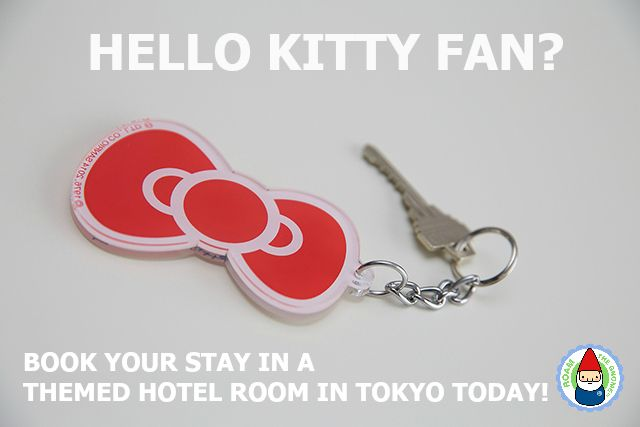 Book your stay in a Hello Kitty themed room in Tokyo. Details in link. Visit www.roamthegnome.com for SUPER DOOPER FUN ideas for family-friendly travel and weekend adventures all over the world. Search by city. Rated by kids and our travelling gnome.