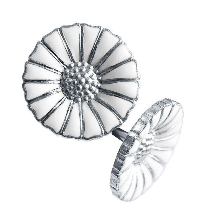Georg Jensen Silver White Earrings DAISY - 11 mm in Jewelry & Watches, Fine Jewelry, Fine Earrings | eBay
