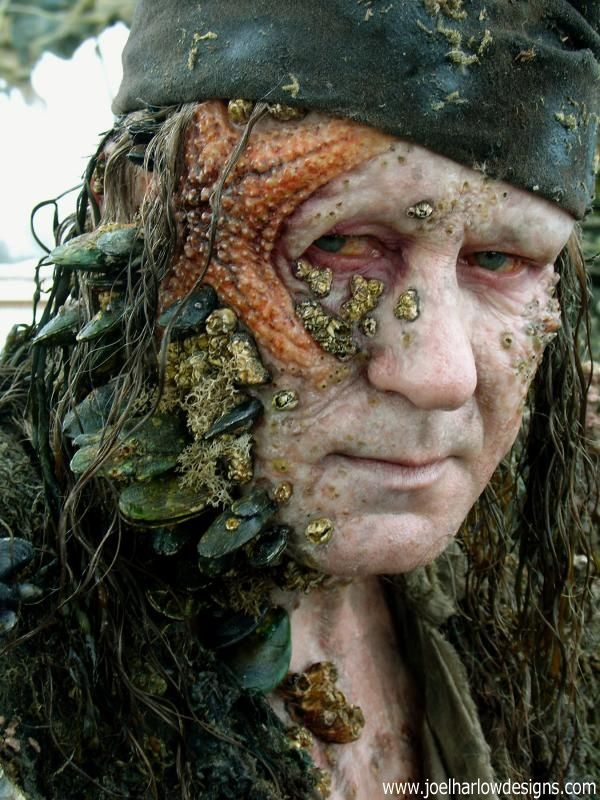 Bootstrap Bill from Pirates of the Caribbean. Arrggh, he be scaring me into tomorrow ! #pirates