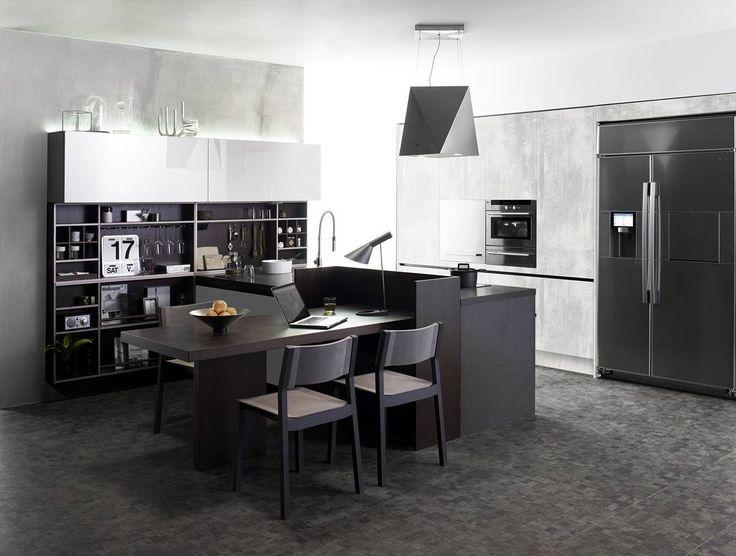 개발실 3D 돌린 주방 새로나온 콘크리트 도어 독일 인터프린트 ...