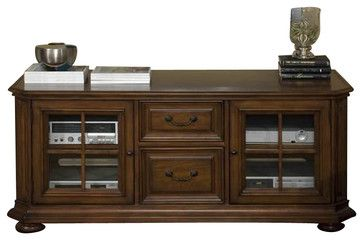 Riverside Cantata 63 Inch TV Console with Glassdoor traditional-media-storage