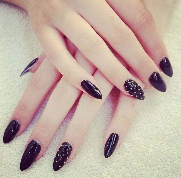black+studs=happy cathy! also love the sharpness. perfect for scratching clients eyeballs out