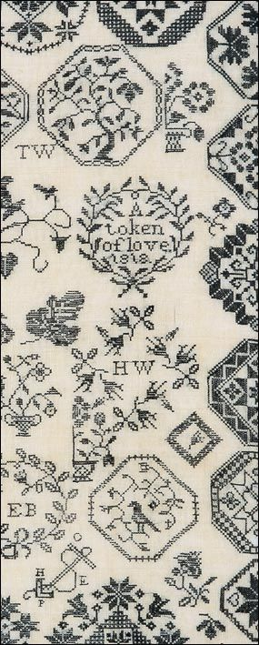 ACKWORTH SCHOOL SAMPLERS WORKED BY  HANNAH HICKS AND HER DAUGHTER RACHEL WILSON  English, dated 1790 and 1818    Samplers made by young girls at the Ackworth School, a Quaker institution in Yorkshire, England, form a distinctive group of samplers worked from the late eighteenth century when the school was founded through the middle of the following century. Hannah Hicks and her daughter, Rachel Wilson, were Ackworth pupils twenty-eight years apart. In their needlework are embroidered motifs…