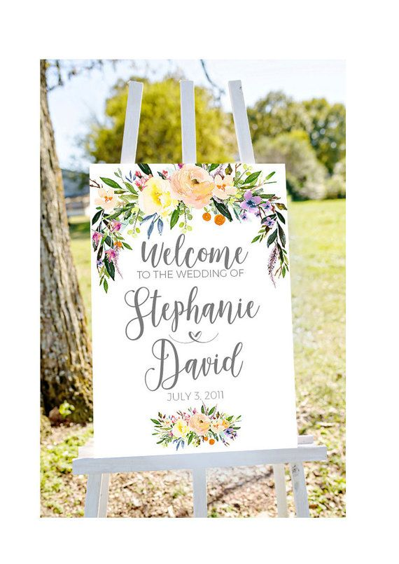 printable wedding welcome Wedding welcome sign by Papierscharmants