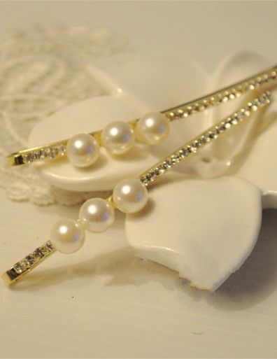 Beads Decorated Bling Hair Clip