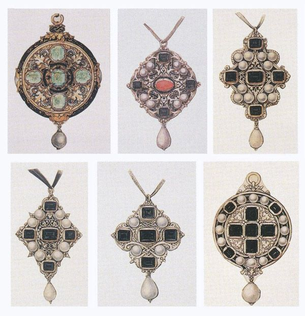 pendant designs by Holbein:  Renaissance Jewelry - Antique Jewelry University